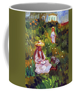 Girls In The Field, After Monet Coffee Mug