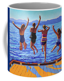 Girls Jumping Coffee Mug
