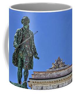 Coffee Mug featuring the photograph Giuseppe Tartini Statue - Piran Slovenia by Stuart Litoff