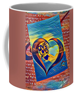 Give Love Coffee Mug by Vennie Kocsis