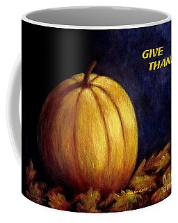 Give Thanks Autumn Painting Coffee Mug