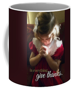 Give Thanks Color Coffee Mug