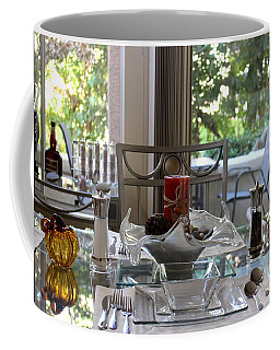 Giving Thanks In California Thanksgiving Table Coffee Mug