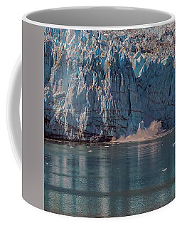 Coffee Mug featuring the photograph Glacier Bay Ice Calving by Brenda Jacobs