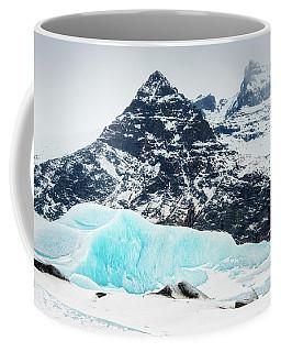Coffee Mug featuring the photograph Glacier Landscape Iceland Blue Black White by Matthias Hauser