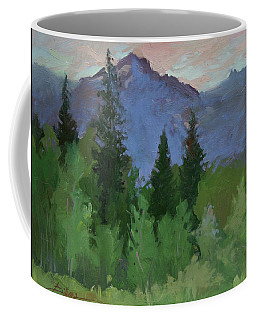Glacier Nat'l Park - Plein Air -  Rising Wolf Ranch Coffee Mug