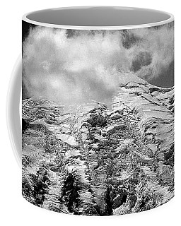 Coffee Mug featuring the photograph Glacier On Mt Rainier by Lori Seaman
