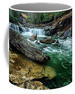 Coffee Mug featuring the photograph Glade Creek And Grist Mill by Thomas R Fletcher