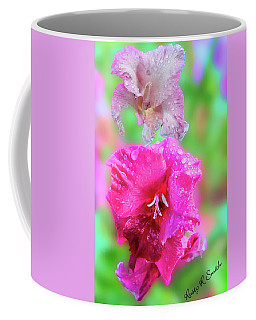 Gladiola Blossoms In The Rain. Coffee Mug