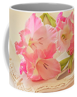Gladiolas In Pink Coffee Mug