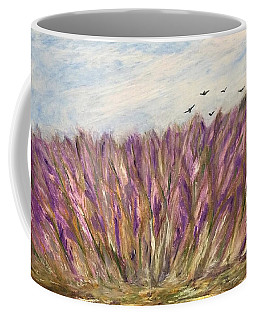 Coffee Mug featuring the painting Gladiolus Field by Norma Duch