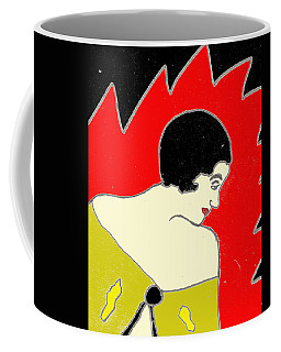 Coffee Mug featuring the drawing Glancing Down by W And F Kreations