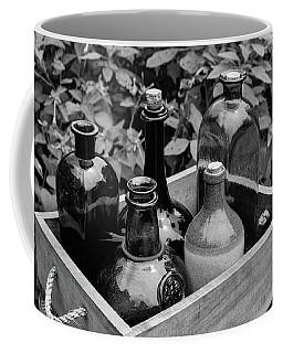 Coffee Mug featuring the photograph Glass Bottles In The Garden by Nicole Lloyd