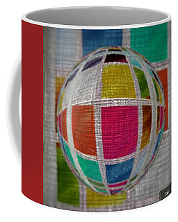 Coffee Mug featuring the painting Glass Marble Squares by Sheila Mcdonald