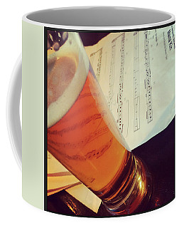 Glass Of Beer And Music Notes Coffee Mug by GoodMood Art