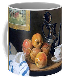 Glass, Silver And Apples Coffee Mug