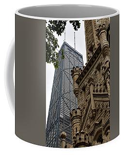 Glass Steel And Stone Coffee Mug