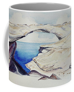 Coffee Mug featuring the painting Glass Window by Patricia Piffath
