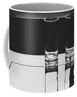 Glasses On A Table Bw Coffee Mug