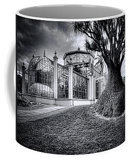 Glasshouse And Tree Coffee Mug by Wayne Sherriff