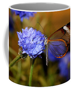 Glasswing Butterfly Coffee Mug