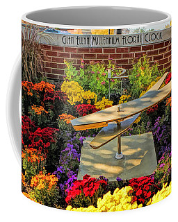 Coffee Mug featuring the painting Glen Ellyn Millennium Flower Clock by Christopher Arndt