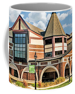 Coffee Mug featuring the painting Glen Ellyn Public Library by Christopher Arndt