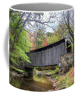 Glen Hope Covered Brige During Autumn Coffee Mug