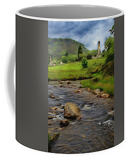 Glendalough In The Distance Coffee Mug by Jeff Kolker