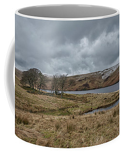 Coffee Mug featuring the photograph Glendevon Reservoir In Scotland by Jeremy Lavender Photography