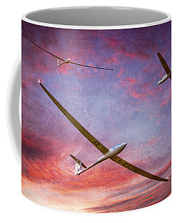 Coffee Mug featuring the photograph Gliders Over The Devil's Dyke At Sunset by Chris Lord
