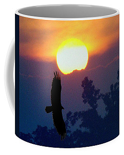 Coffee Mug featuring the photograph Gliding By The Sun by J R Seymour