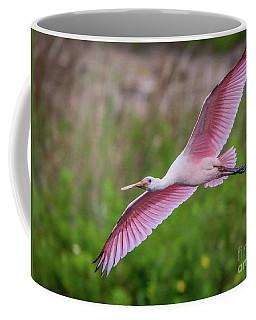 Gliding Spoonbill Coffee Mug
