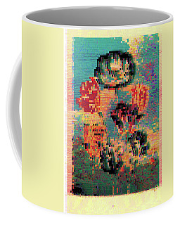 Glitched Tulips Coffee Mug