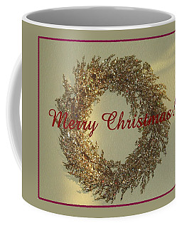 Glittery Wreath Coffee Mug by Ellen O'Reilly