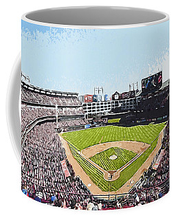 Globe Life Park In Arlington Coffee Mug by Kai Saarto