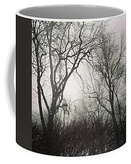 Gloomy Trees Against Cloudy Sky Coffee Mug