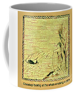 Coffee Mug featuring the digital art Glooscap Watching The Smoking Whale by Art MacKay
