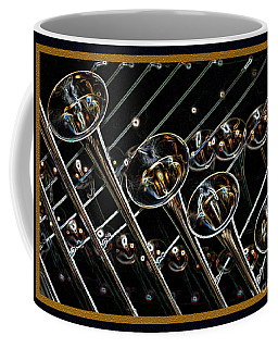 Coffee Mug featuring the digital art Glorious Trumpets by Wendy Wilton