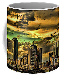 Coffee Mug featuring the photograph Glory  Downtown Dallas At Sunset by Diana Mary Sharpton
