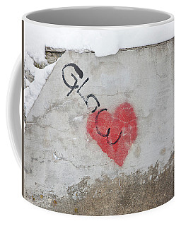 Coffee Mug featuring the photograph Glow Heart by Art Block Collections