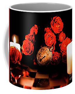 Glowing Clock With Flowers Coffee Mug