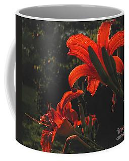 Glowing Day Lilies Coffee Mug by Donna Brown