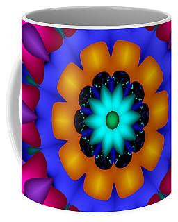 Glowing Fractal Flower Coffee Mug