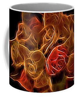 Glowing Golden Rose Bouquet Coffee Mug by Linda Phelps