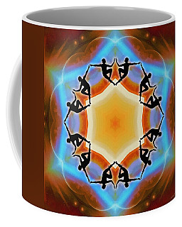 Coffee Mug featuring the digital art Glowing Heartfire by Derek Gedney