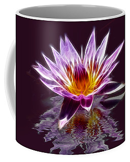 Glowing Lilly Flower Coffee Mug