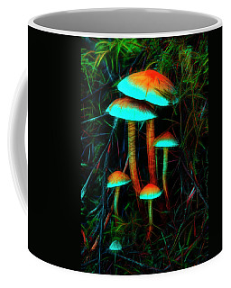 Glowing Mushrooms Coffee Mug
