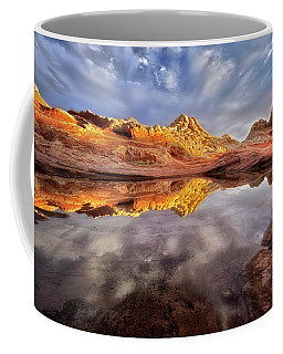 Glowing Rock Formations Coffee Mug