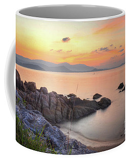 Coffee Mug featuring the photograph Glowing Sunset by Michelle Meenawong